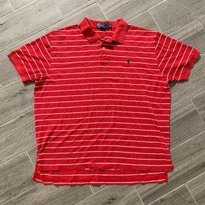 Polo Ralph Lauren Men's XL Red w/ White Stripes